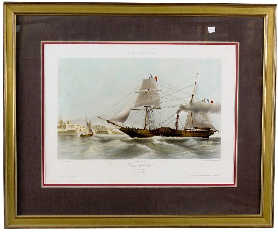 8: PR NAUTICAL ENGRAVINGS AFTER DURAND BRAGER: