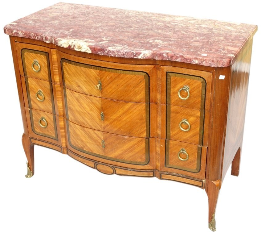21: FRENCH LOUIS XV STYLE COMMODE:
