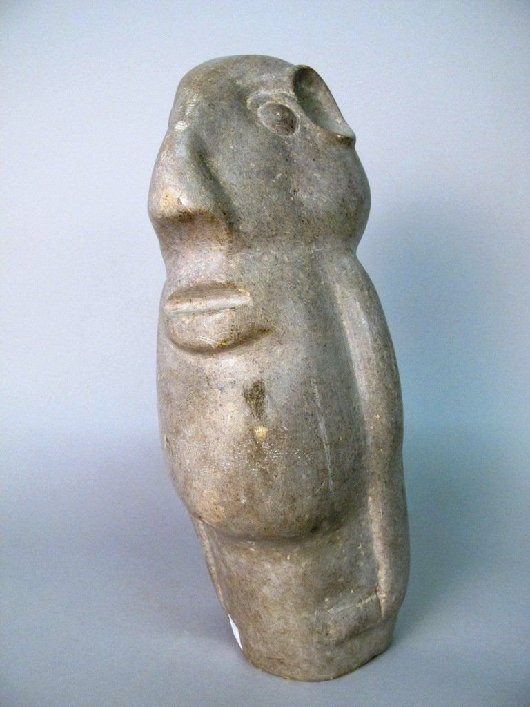 AFRICAN SHONA CARVED STONE BUST: