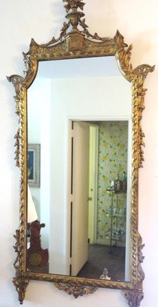 EARLY 20TH CENTURY GILTWOOD MIRROR: