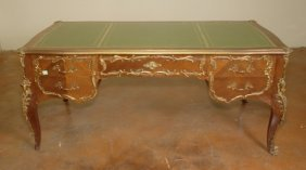 LOUIS XV STYLE GILT MOUNTED BUREAU PLAT: