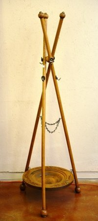 CIVIL WAR ERA COAT & SWORD RACK:
