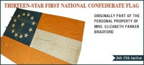 THIRTEEN-STAR NATIONAL CONFEDERATE FLAG: