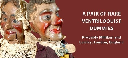 A PAIR OF RARE VENTRILOQUIST DUMMIES: