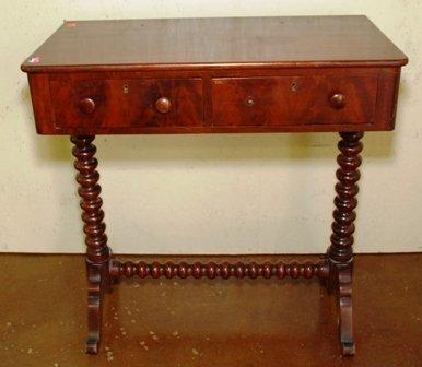 EMPIRE MAHOGANY CONSOLE TABLE: