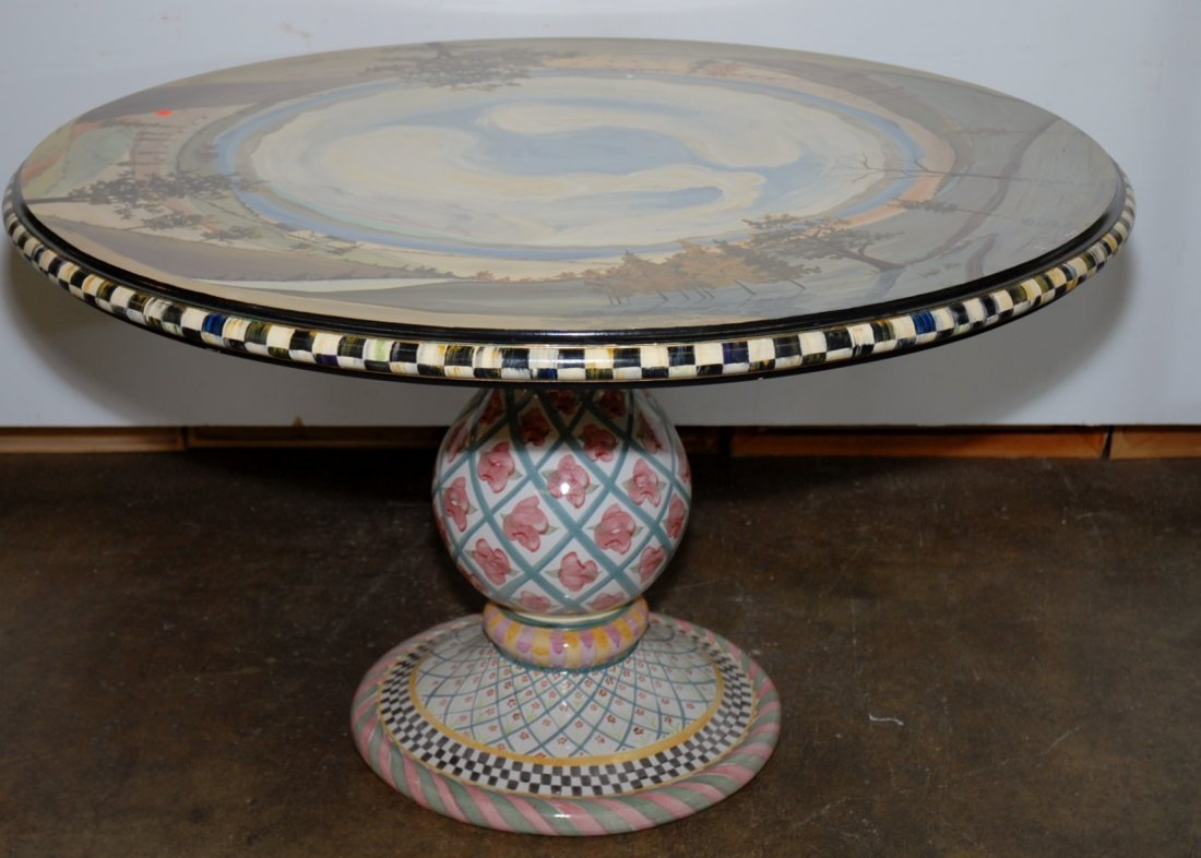 MACKENZIE-CHILDS PAINTED CENTER TABLE