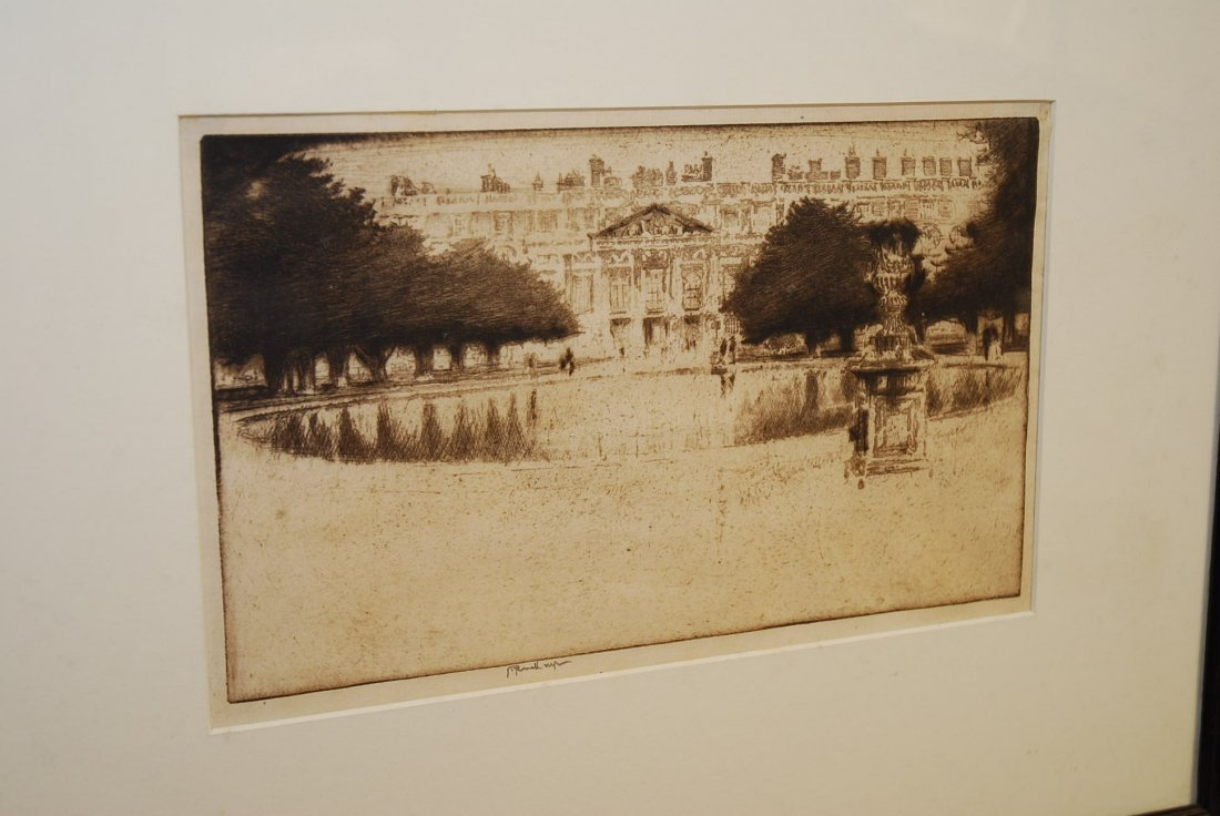 JOSEPH PENNELL ETCHING HAMPTON COURT PALACE
