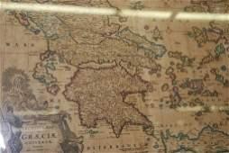 MAP DE WIT ACCURATE TOTIUSGRAECIAE 1680
