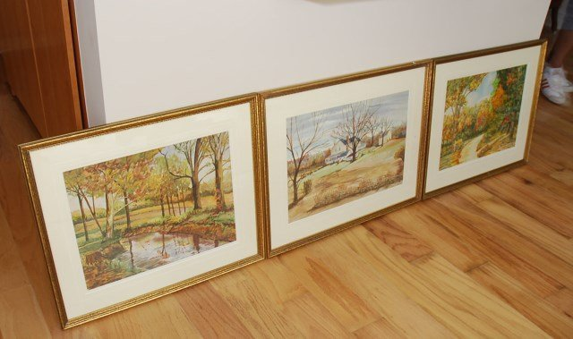 THREE WATERCOLORS BY CHARLES F. GESCHICKTER