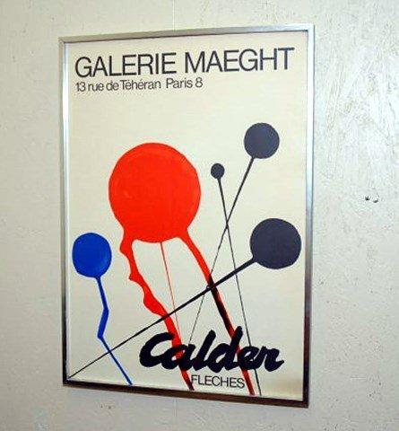 ALEXANDER CALDER GALERIE MAEGHT POSTER