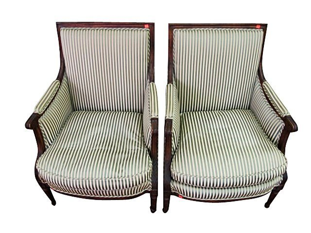 PAIR OF FRENCH PROVINCIAL BERGERES