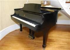 A FINE STEINWAY MODEL M BABY GRAND PIANO