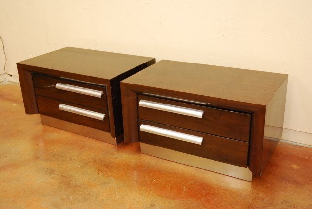 PAIR MID CENTURY STYLE SIDE TABLE