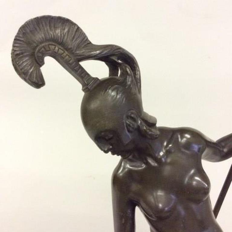 Titze (Austrian) Bronze a Nude Warrior - 3