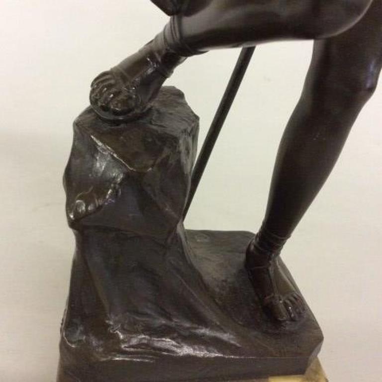 Titze (Austrian) Bronze a Nude Warrior - 4