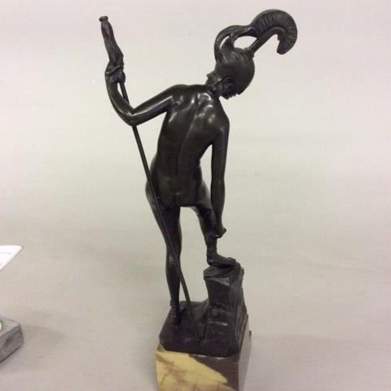 Titze (Austrian) Bronze a Nude Warrior - 5