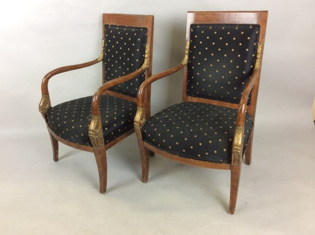 Pair of Empire Style Side Chairs