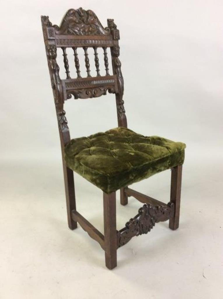 Jacobean Style Side Chair