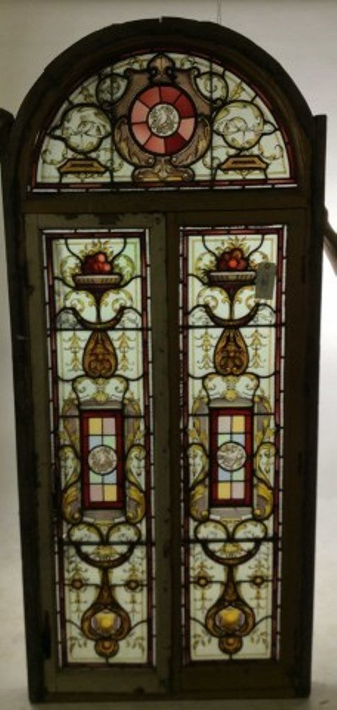Arched Top Stain Glass Window