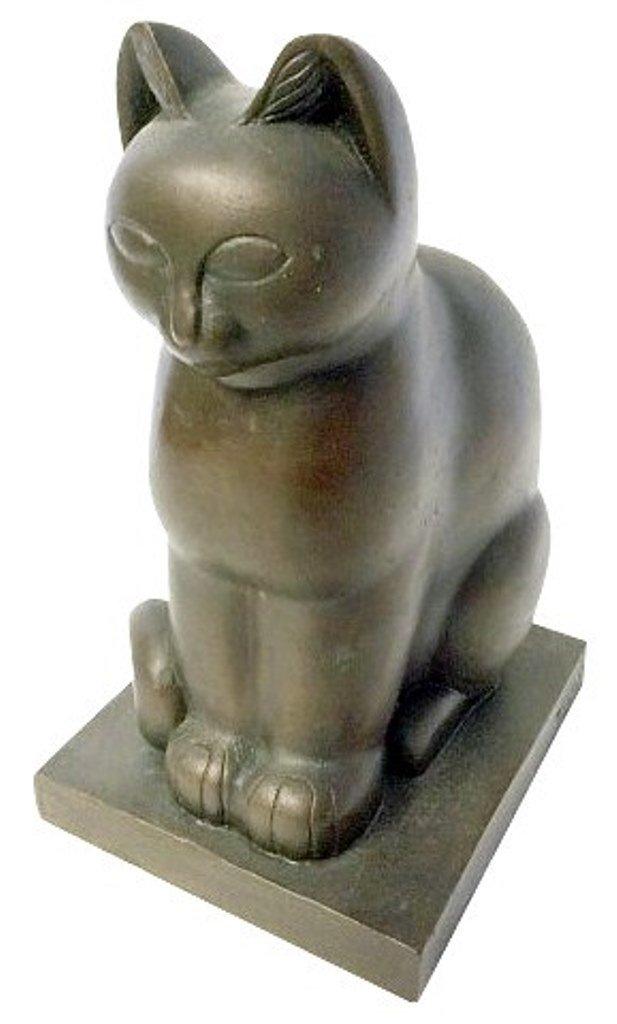 Fiene, Paul (1899-1949, American) Bronze Cat