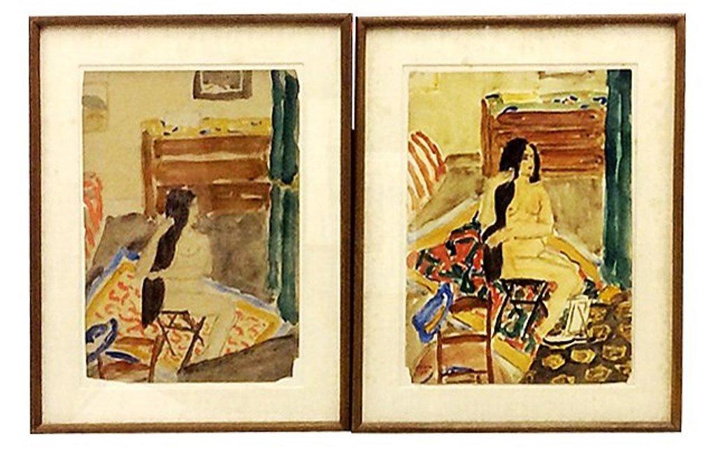 Benn, Ben (1884-1983, American) Pair Watercolors