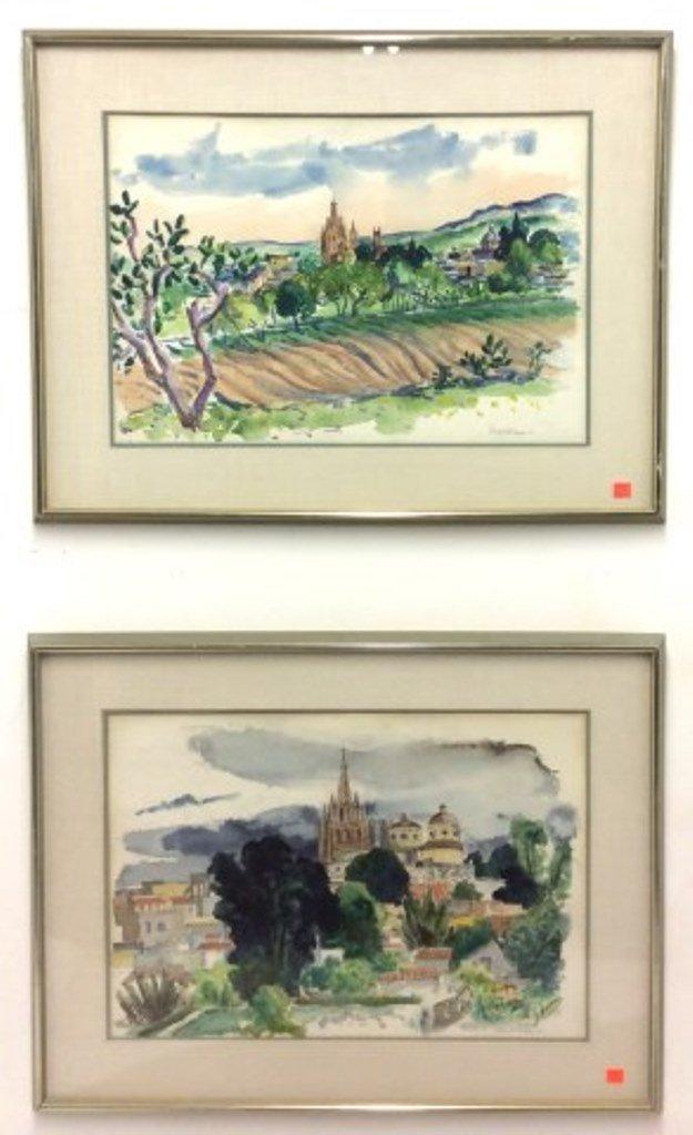 Fiene, Ernest (1894-1965, American) Pr Watercolors