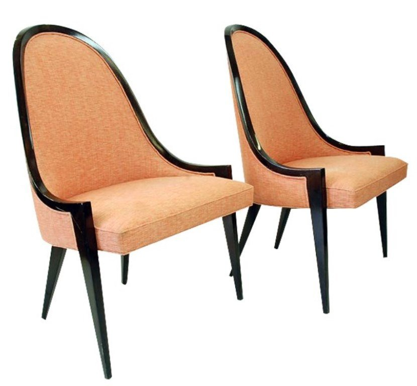 Pr of Harvey Prober Pull Up Chairs