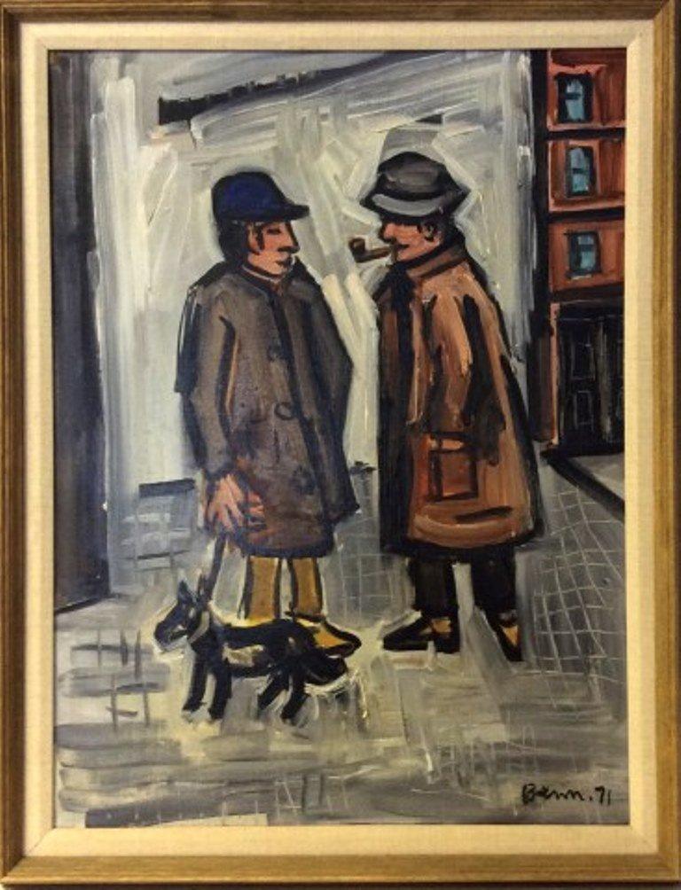 Benn, Ben (1884-1983, American) Two Men and a Dog