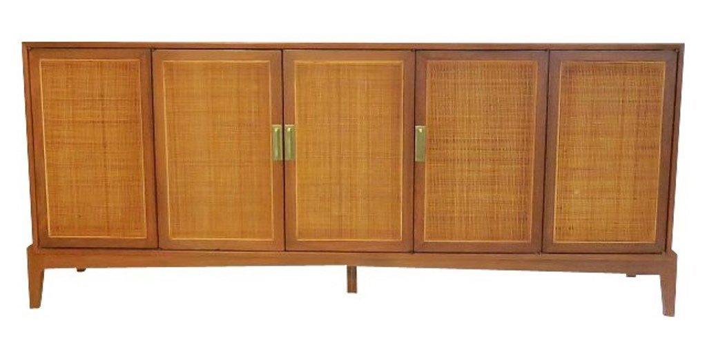 Danish Modern Walnut Credenza Cabinet
