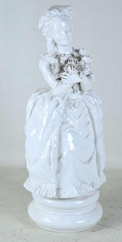 Ceramic Statue Lady with Roses