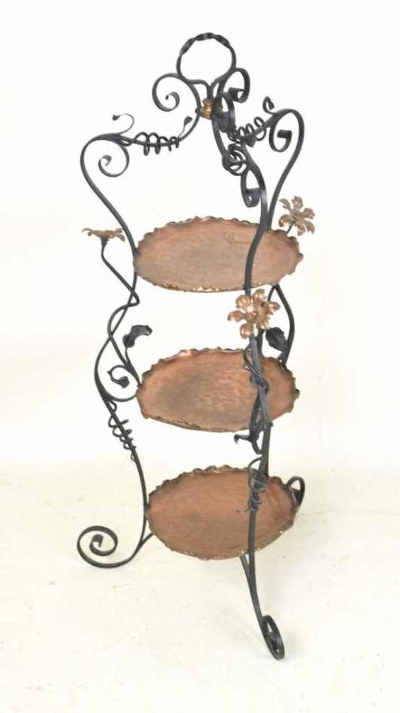 Iron and Copper Arts & Crafts Pie Stand