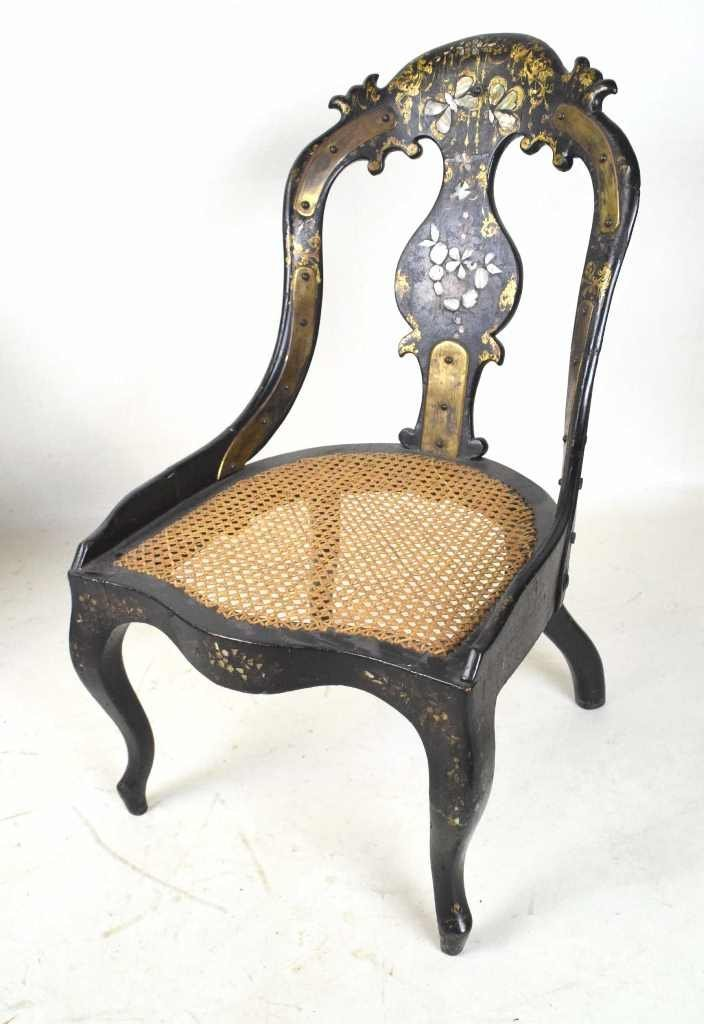 19th Century Mother of Pearl Inlay Chair