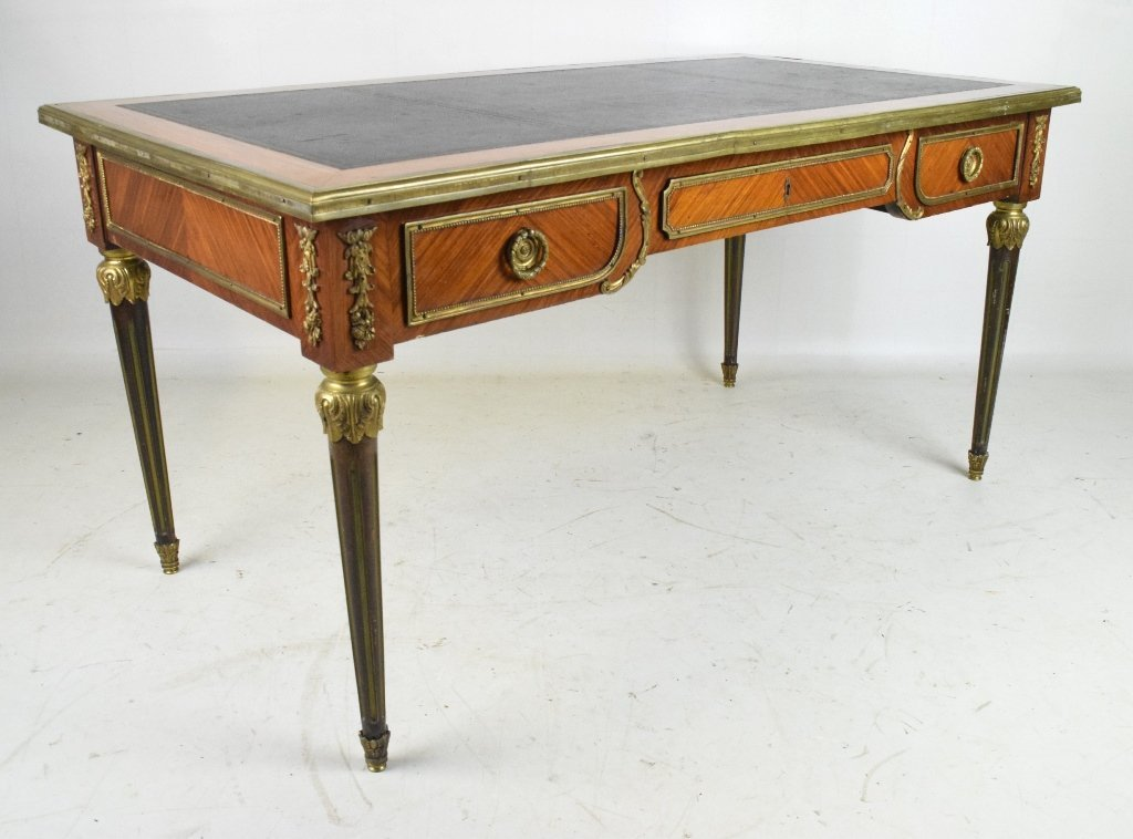 French Rosewood Gilt Bronze Buroplat