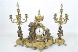Brevettato Imperial Bronze Garniture Set