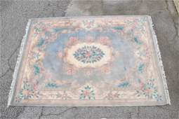 Indo Chinese Carved Blue Carpet