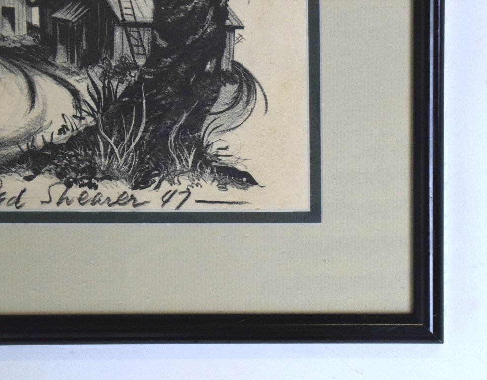 "Ted Shearer Signed ""Roots"" Print (American, 1947) - 10"