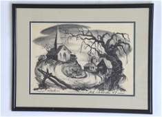 Ted Shearer Signed Roots Print American 1947