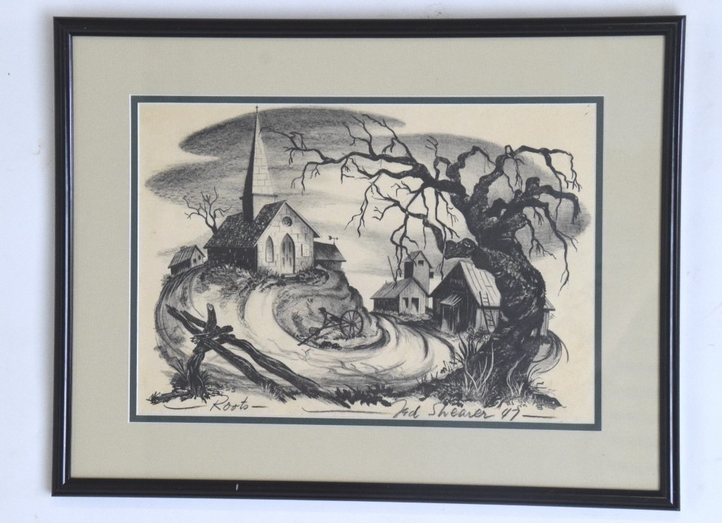 "Ted Shearer Signed ""Roots"" Print (American, 1947)"