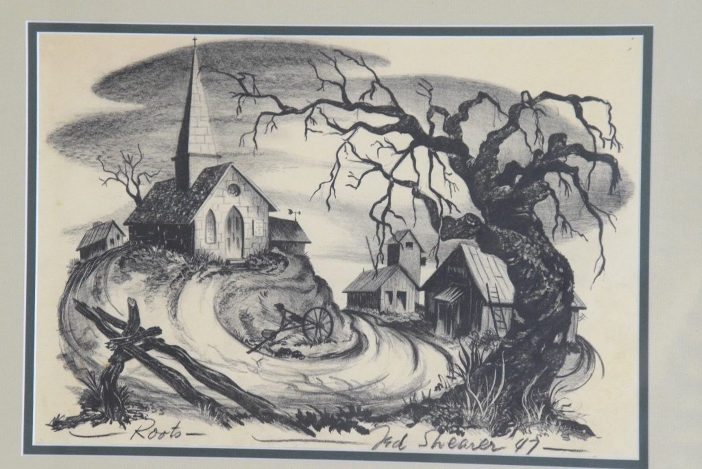 "Ted Shearer Signed ""Roots"" Print (American, 1947) - 2"
