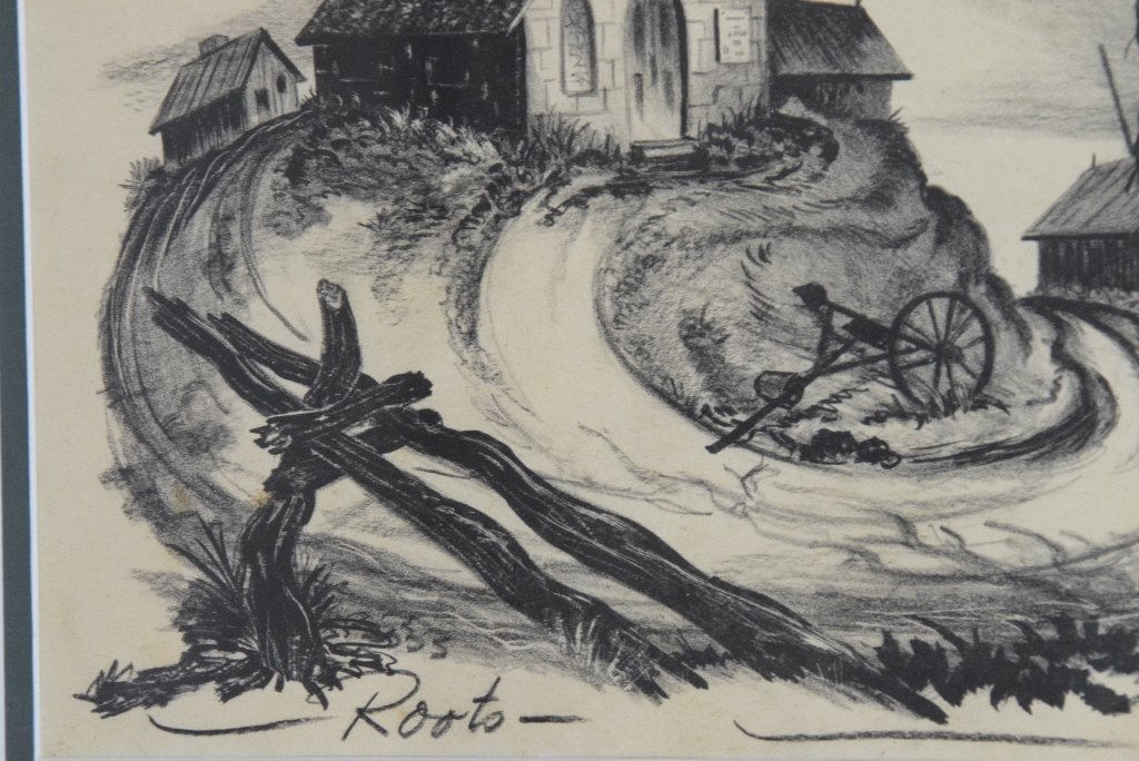 "Ted Shearer Signed ""Roots"" Print (American, 1947) - 6"