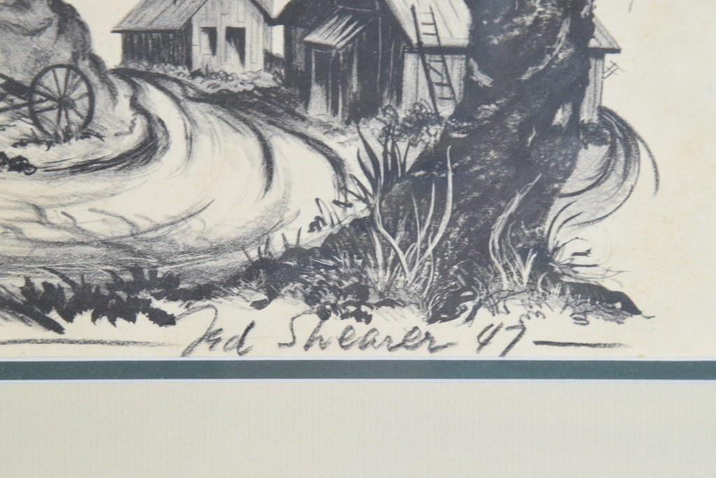 "Ted Shearer Signed ""Roots"" Print (American, 1947) - 8"