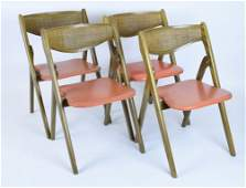 Set Four Norquist Folding Chairs