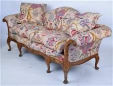 Camel Back Upholstered Sofa