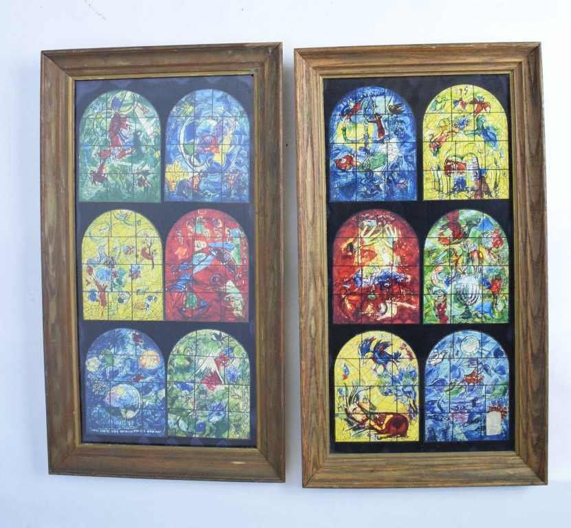 12 Marc Chagall Prints Jerusalem Stained Glass