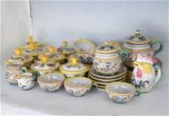 35 pcs Italian Majolica Kitchen Ceramics