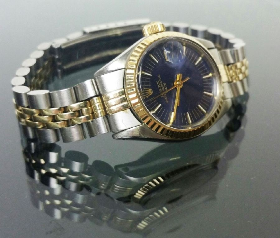Ladies 14K and Stainless Steel Rolex Watch