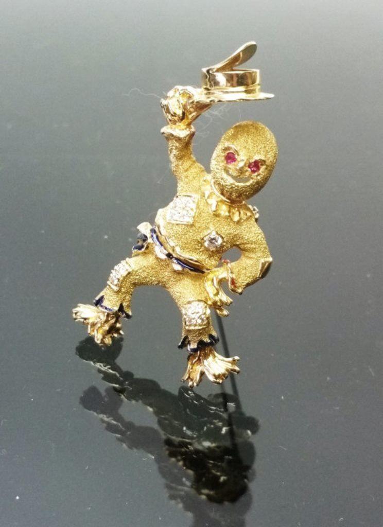 Ladies 14K Scarecrow Pin