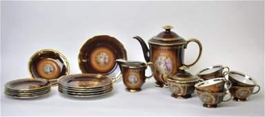 21 Piece Hutschenreuther Porcelain Tea Service