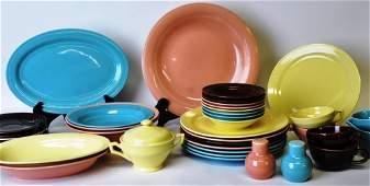 38 Piece Set Vernon Kilns Fiesta Ceramic Tableware
