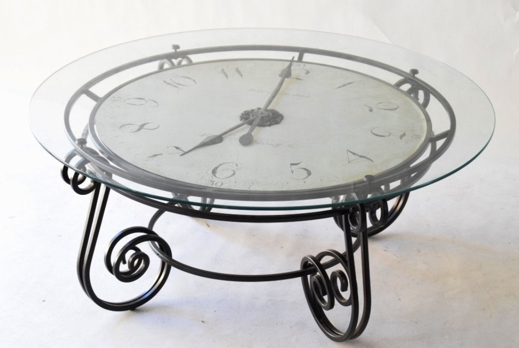 20th C Howard Miller Coffee Table Clock Form